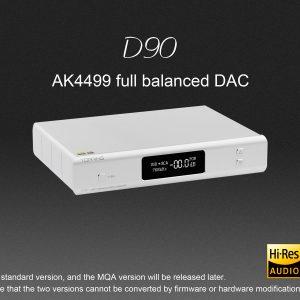TOPPING D90 BLACK Balanced DAC AK4499 XMOS XU208 I2S 32bit 768kHz DSD512 Bluetooth -0
