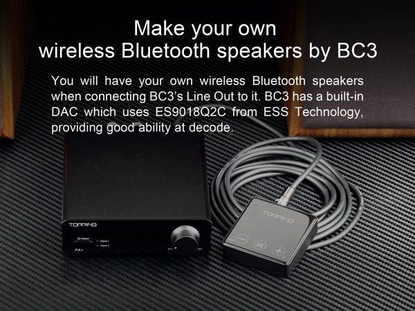 Topping Bc3 Audio Reveicer Bluetooth 5 0 Aptx Hd Ldac Dac Es9018q2c 24bit 96khz Silver